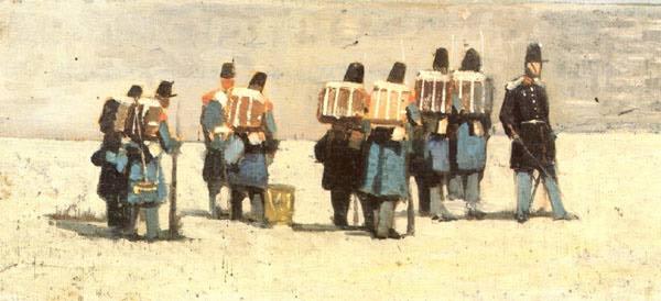 Джованни Ливорно Фаттори. Французские солдаты