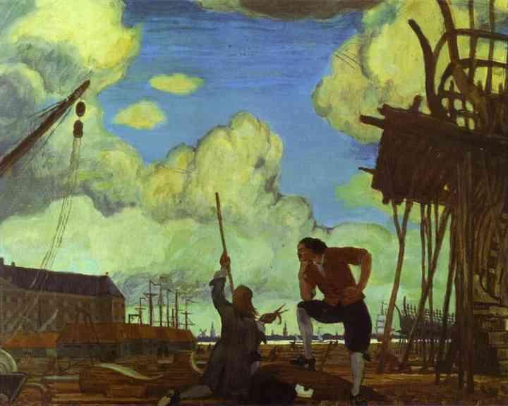 Mstislav Dobuzhinsky. Peter The Great