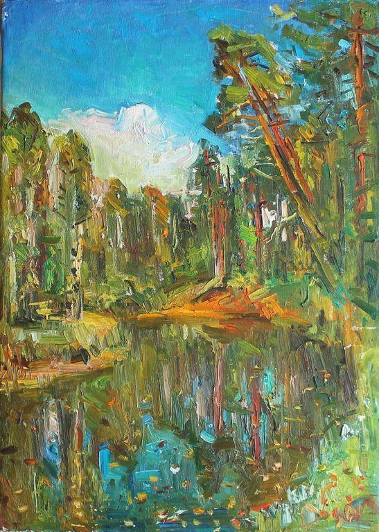 Talgat Faragatovich Zamaleev. Landscape with clouds
