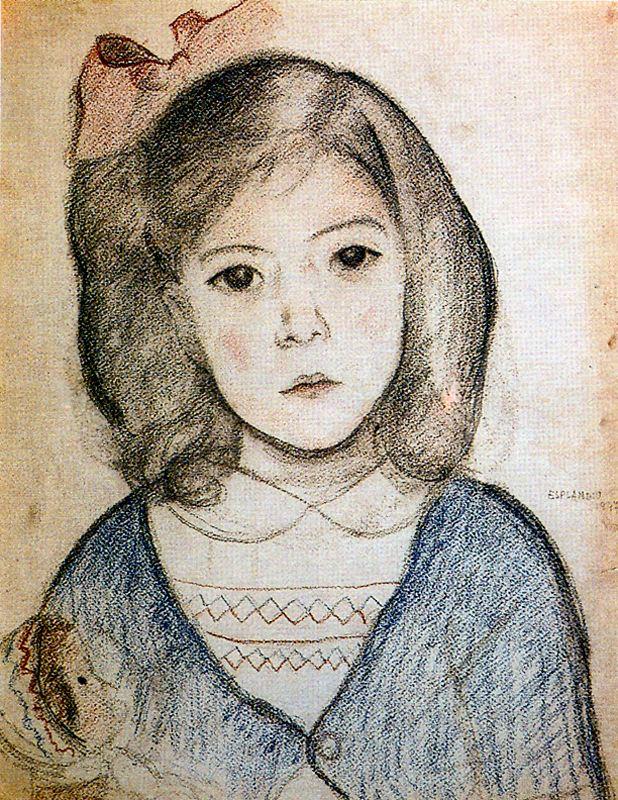 Juan Esplandyu. Little girl