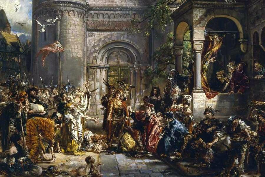 Ян Матейко. Прием евреев в Польше в 1096 году. Эскиз