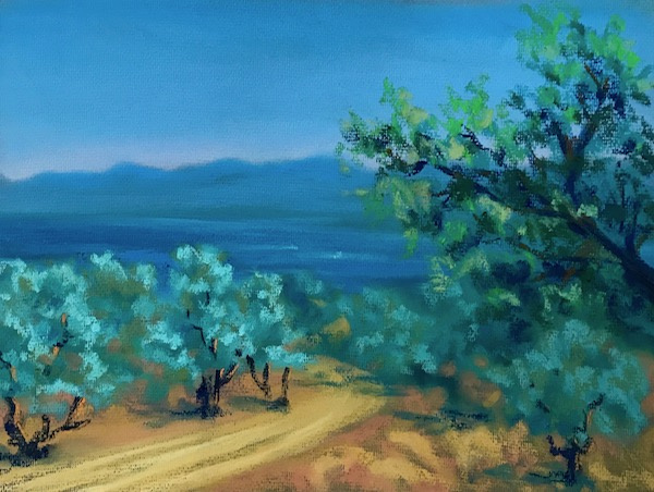 Larissa Lukaneva. Of the Mediterranean sea. An olive grove.