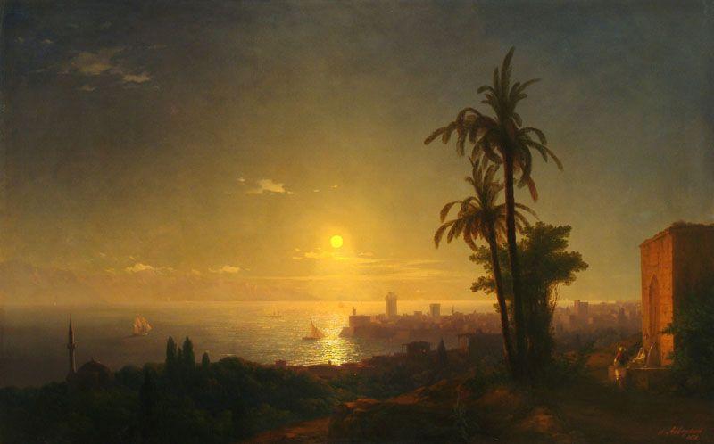 Иван Константинович Айвазовский. Ночь на острове Родос