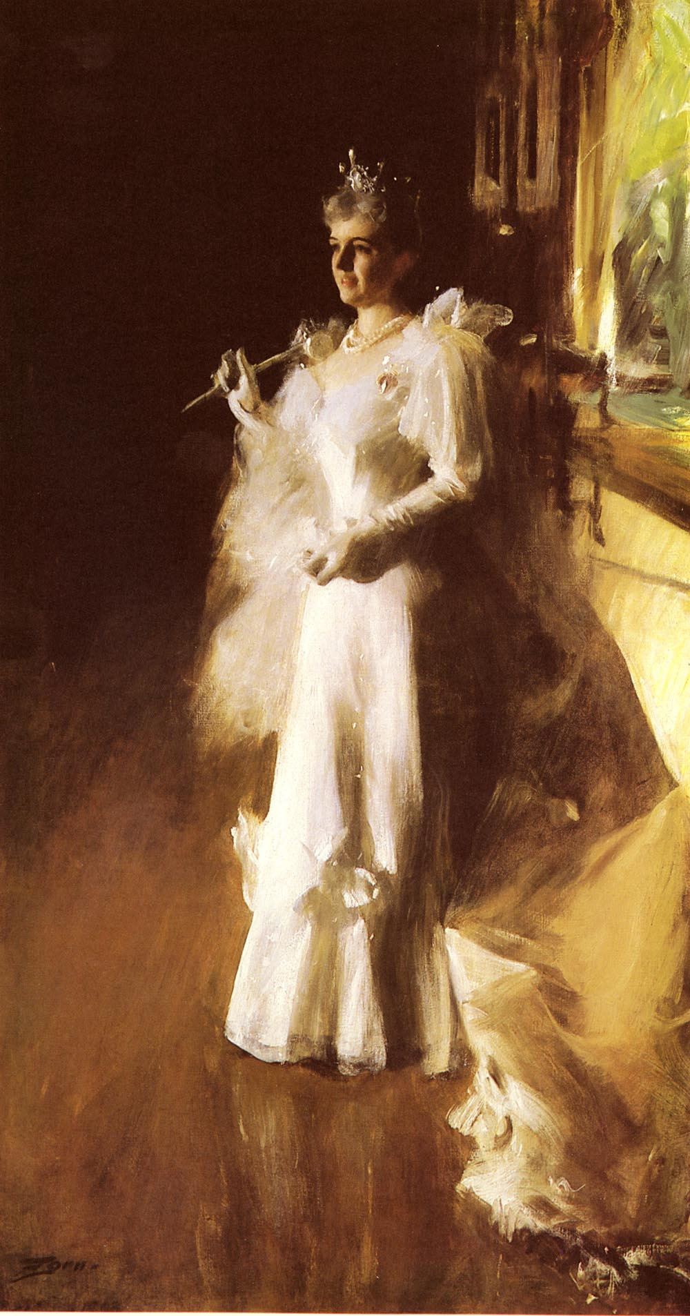 Anders Zorn. Mrs. Potter Palmer