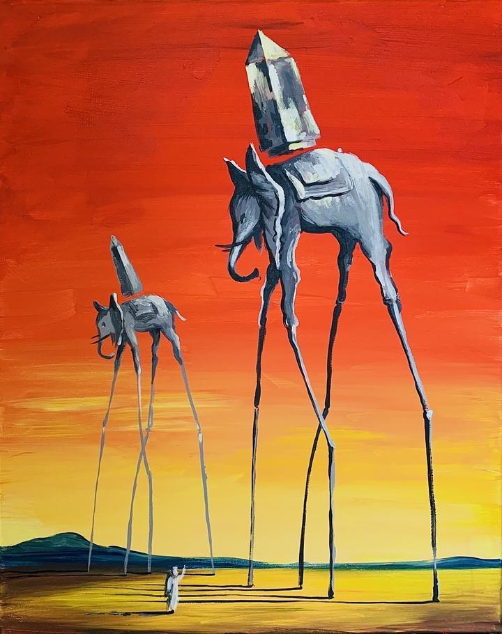 Salvador Dale. Elephants