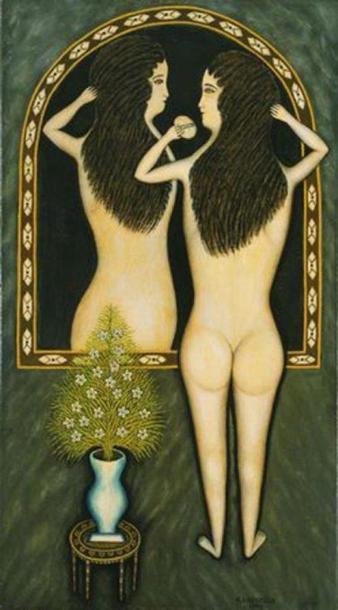 Morris Hirschfield. Girl in the mirror