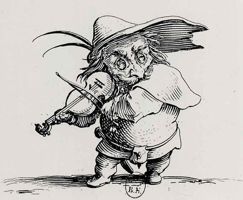 Жак Калло. Горбун, играющий на скрипке