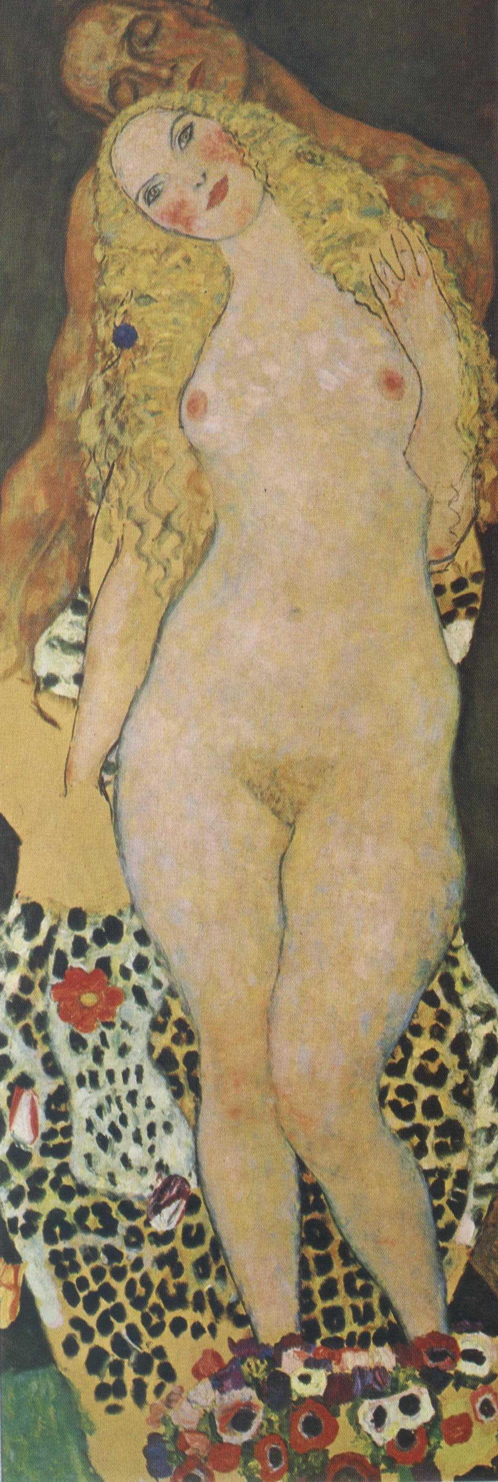 Густав Климт. Адам и Ева (незавершенное)