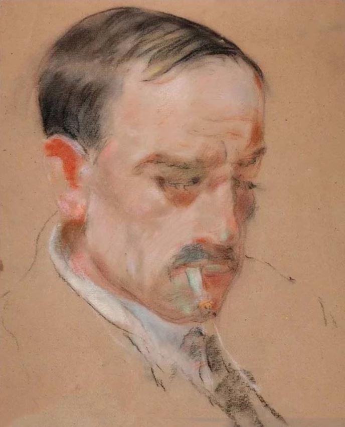 Ivan Ivanovich Zakharov. Portrait of A. Green.