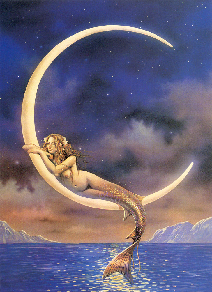 David Delamar. Mermaid on the moon