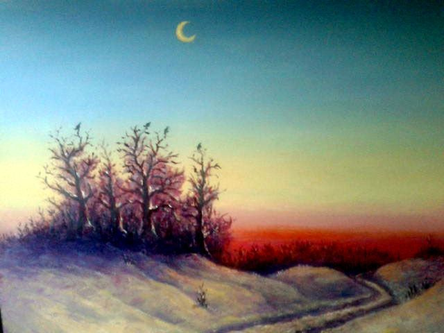 Najaf Mamedali oglu Mamedov. Winter evening