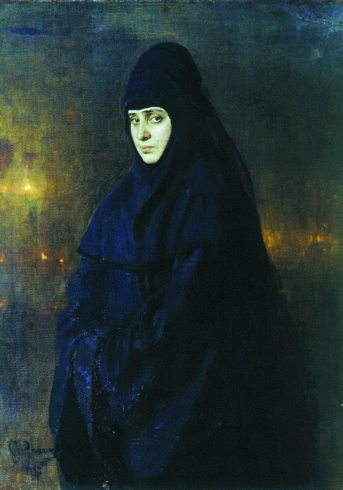 Ilya Efimovich Repin. Nun