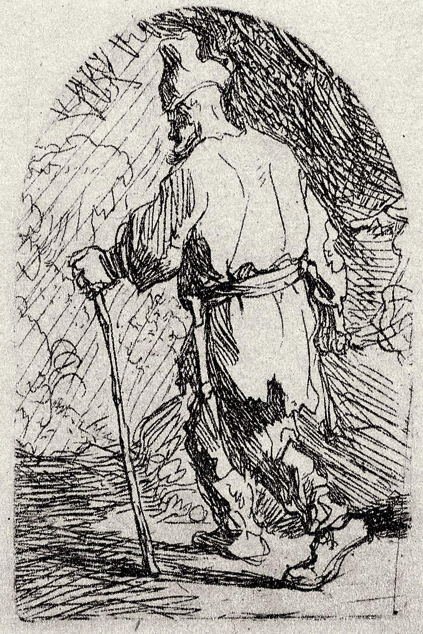 Rembrandt Harmenszoon van Rijn. The flight into Egypt