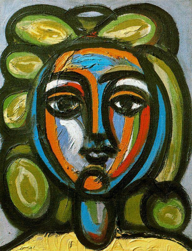 Пабло Пикассо. Портрет женщины с зелеными локонами