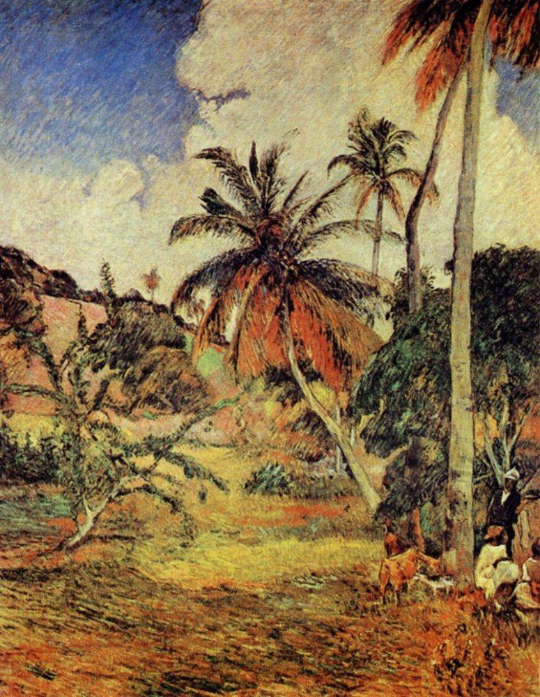 Поль Гоген. Пальмовые деревья на Мартинике