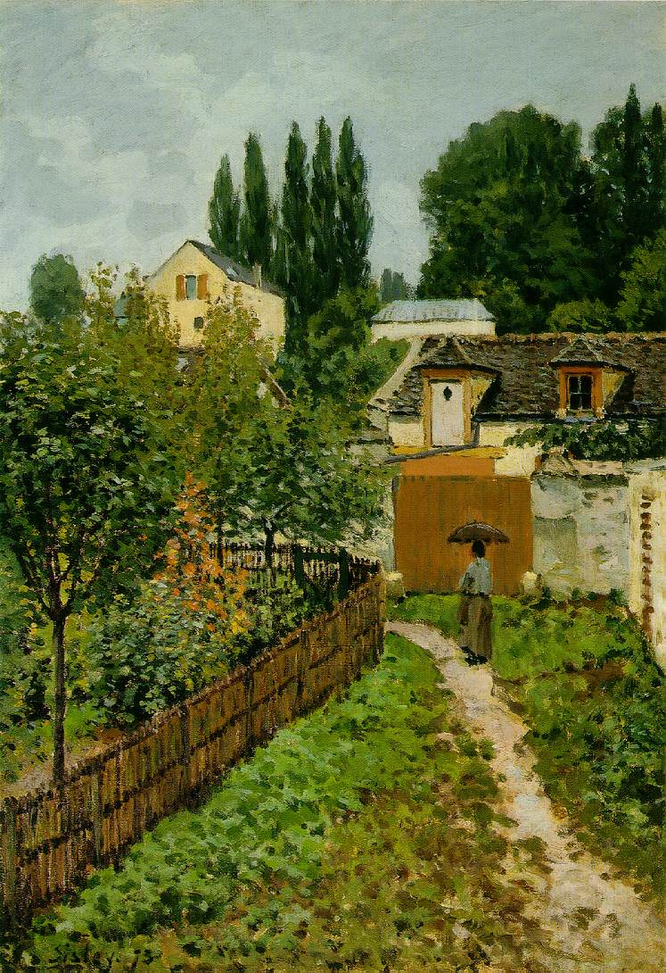 Alfred Sisley. Garden path in Louveciennes (the Road l Marche)