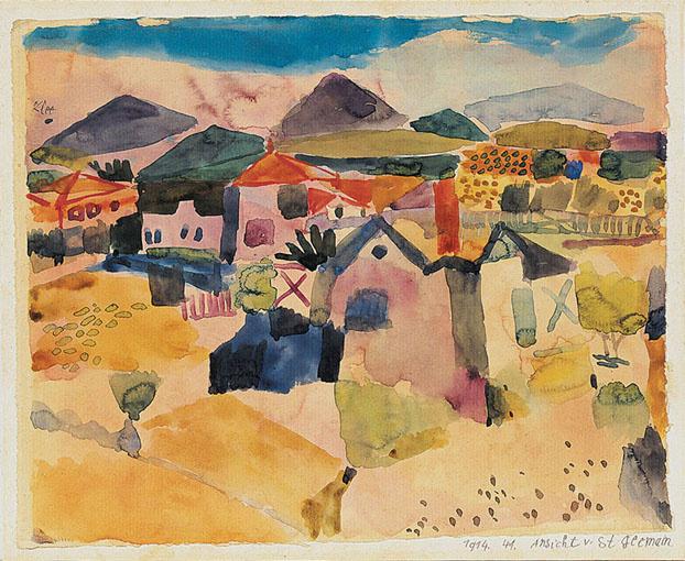 Пауль Клее. Вид на Сан-Жермен