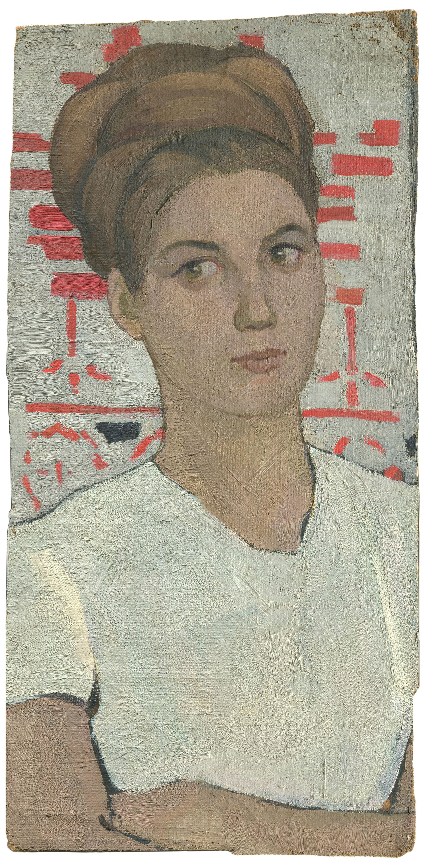 Alexandrovich Rudolf Pavlov. Portrait of a woman in a white dress.