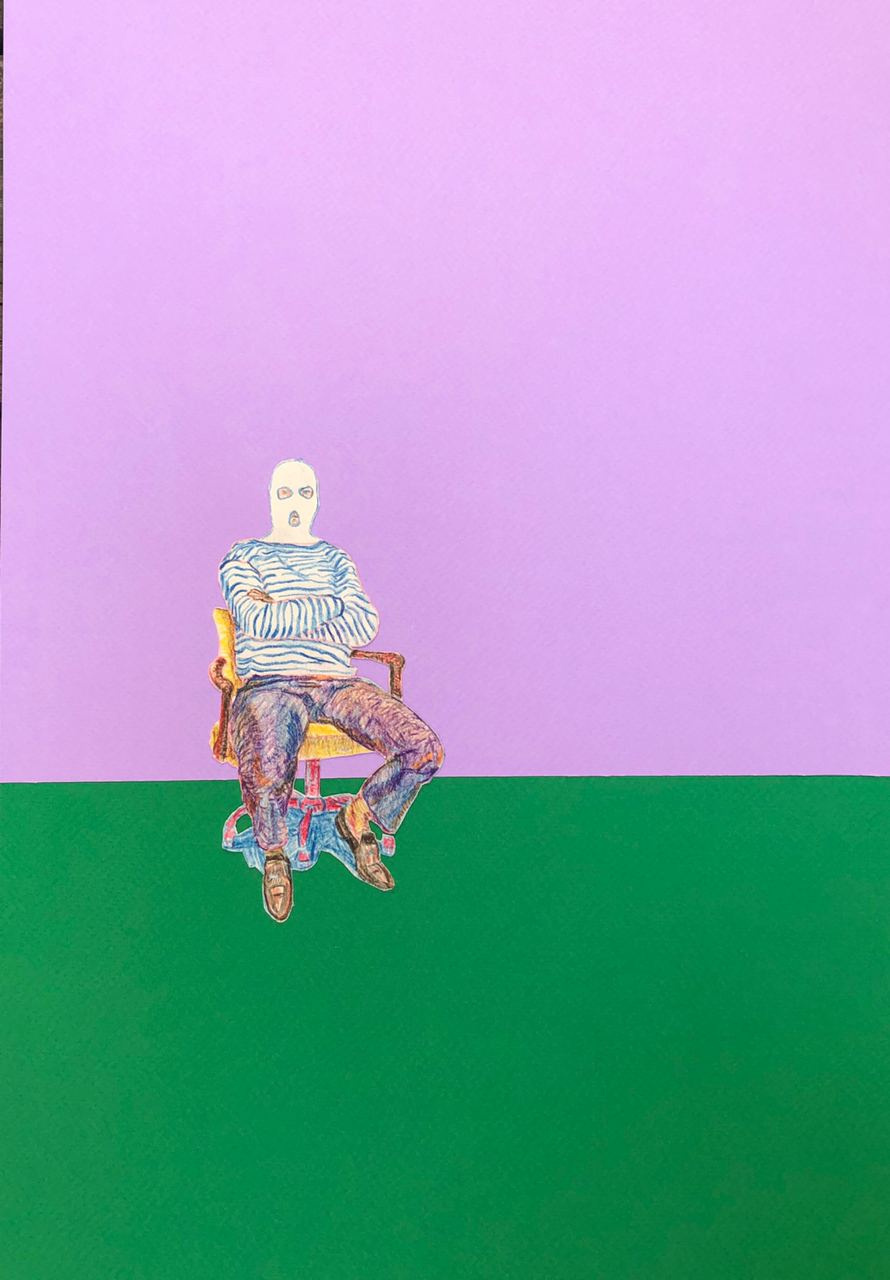 Dmitry Dmitrievich Erlikh. A man on a chair