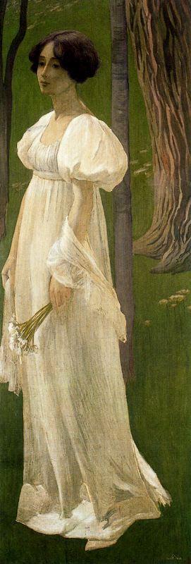 Девушка в белом. Ernest Biéler