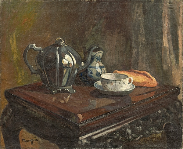 Henri Manguin. The tea party. Still life with tea devices