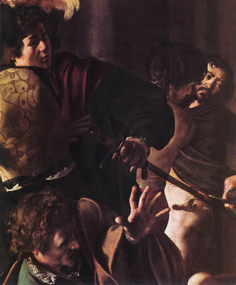 Michelangelo Merisi de Caravaggio. The martyrdom of St. Matthew. Fragment