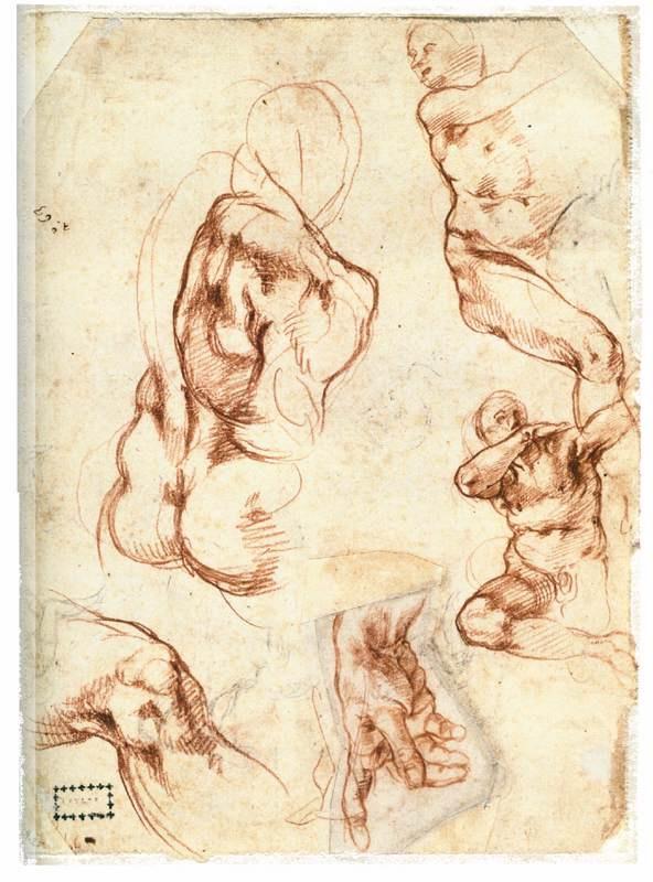 Michelangelo Buonarroti. Study with figures
