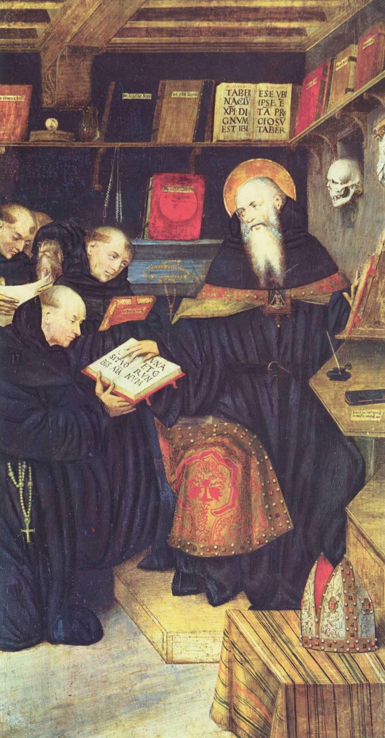 Gaudenzio Ferrari. SV. Augustine and the hermits