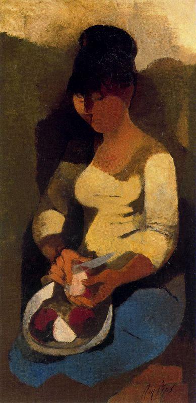 Мануэль Руис Пипо. Девушка с ножом