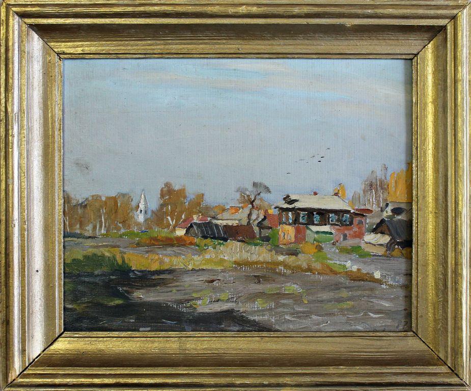 Edward Yakovlevich Vyrzhikovsky. Autumn in Tutaev