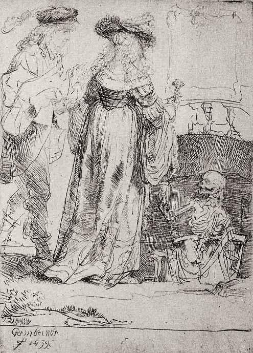 Рембрандт Харменс ван Рейн. Влюбленные и Смерть