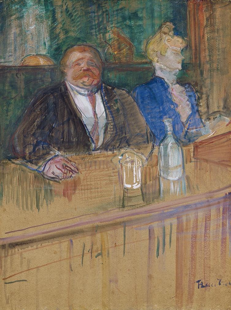 Henri de Toulouse-Lautrec. In the café: the customer and the anemic cashier