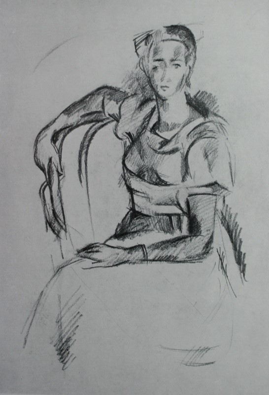 Alexander Alexandrovich Osmercin. Seated woman. From the collection of V. Kh. Dumanyan