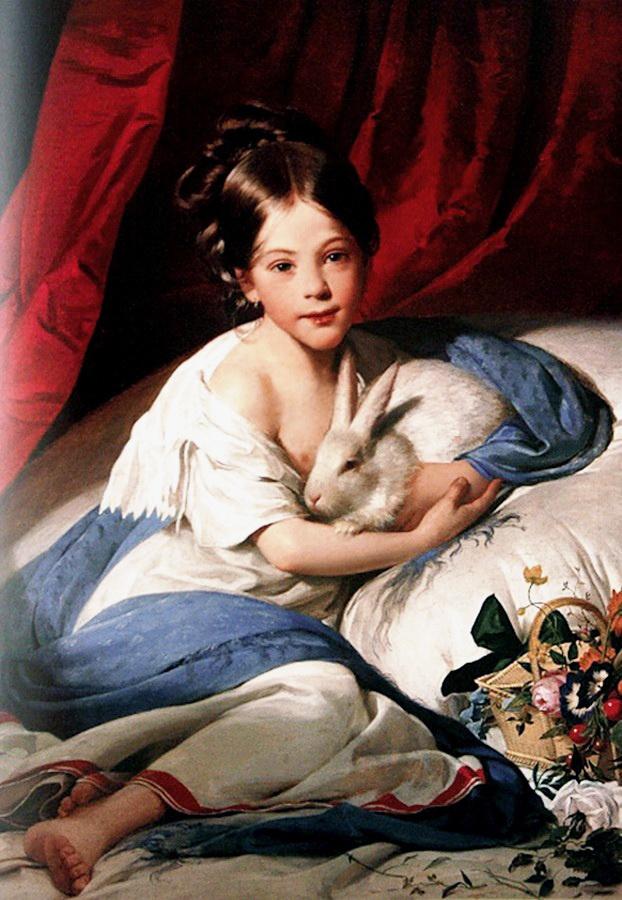 Фридрих фон Амерлинг. Портрет принцессы Марии Францишки Лихтейнштейн
