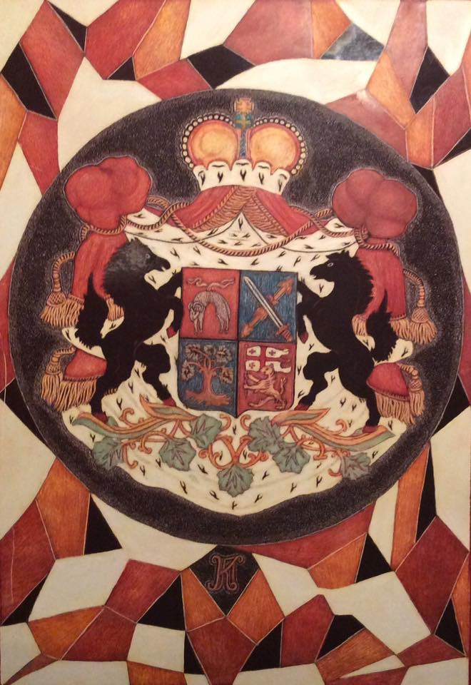 Martin Gurgenovich Ashkhatoev. Variations of the family coat of arms Pagawa dynasty of doctors