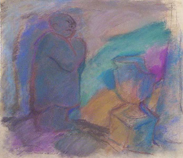 Владимир Иванович Башлыков. Фигура и глинянная ваза