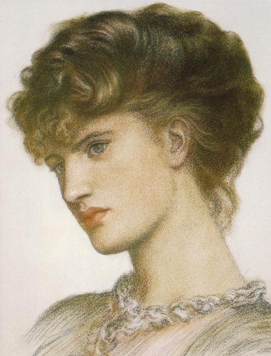 Dante Gabriel Rossetti. Female portrait
