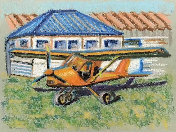 Larissa Lukaneva. Aerodrome. Sketch.