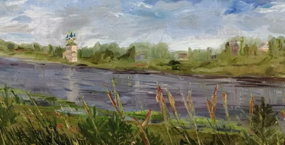 Elena Ivanovna Vydrina. View of Totma
