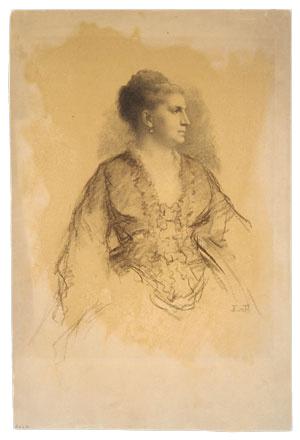 Эдвард Киллингворт Джонсон. Портрет женщины