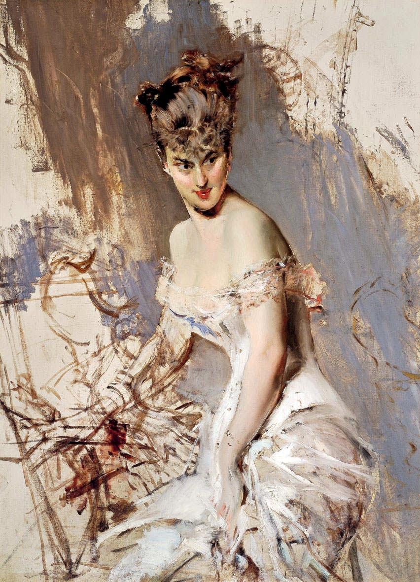 Giovanni Boldini. Portrait of Actress Alice Reno