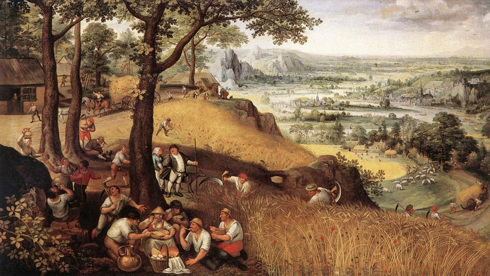 Лукас ван Фалькенборх. Пейзаж летом