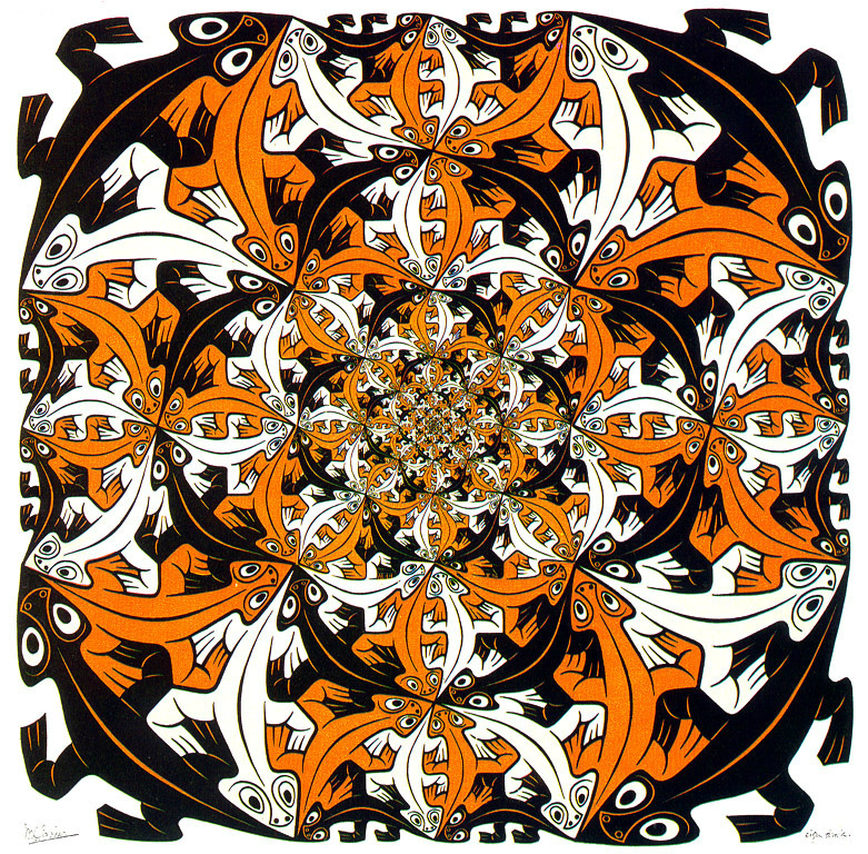 Maurits Cornelis Escher. Less and less