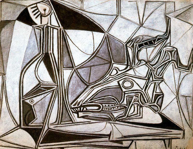 Пабло Пикассо. Череп козы, бутылка и свеча 2