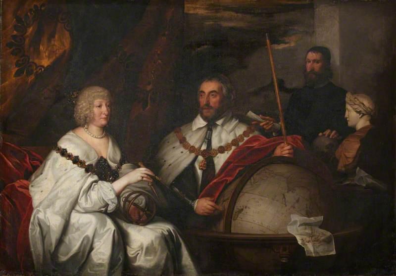 Антонис ван Дейк. Томас Говард, 2-й граф Арундел, и его жена, леди Алетея Тальбот, графиня Арундел, с Фрэнсисом Юниусом или Уильямом Петти