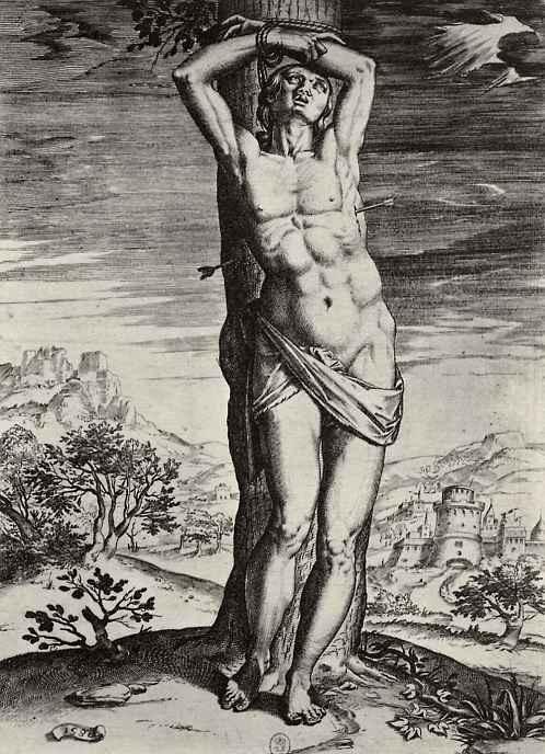 Агостино Карраччи. Святой Себастьян