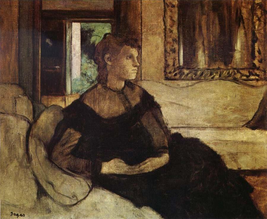 Edgar Degas. Madame théodore Gobear, nee Yves Morisot