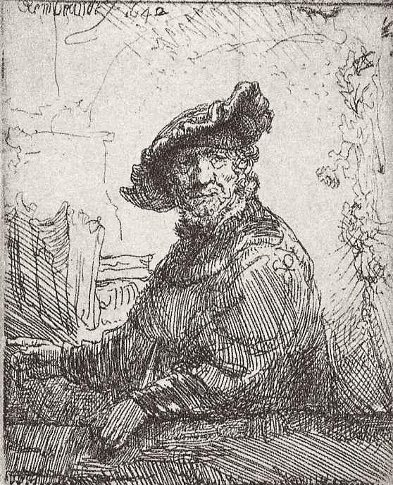 Рембрандт Ван Рейн. Старик в беседке