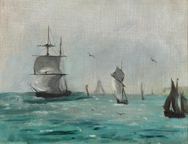 Edouard Manet. Voiliers et mouettes