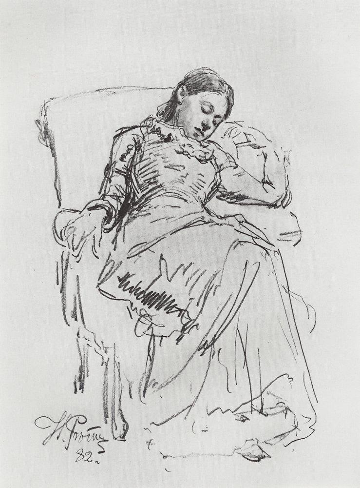 Ilya Efimovich Repin. Rest. Sketch